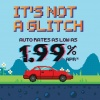 it's not a glitch. Auto rates as low as 1.99% APR*